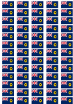 Western Australia Flag Stickers - 65 per sheet